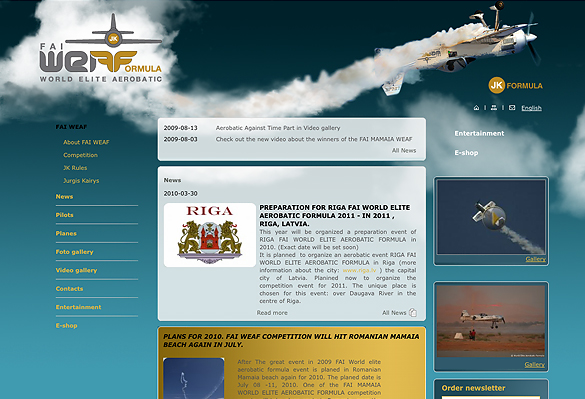 Interneto svetainių kūrimas - naujausios interneto svetainės / aerobatic formula
