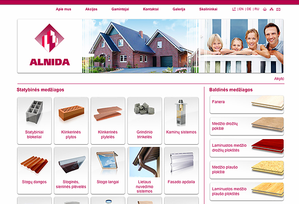 Interneto svetainių kūrimas - naujausios interneto svetainės / Alnida