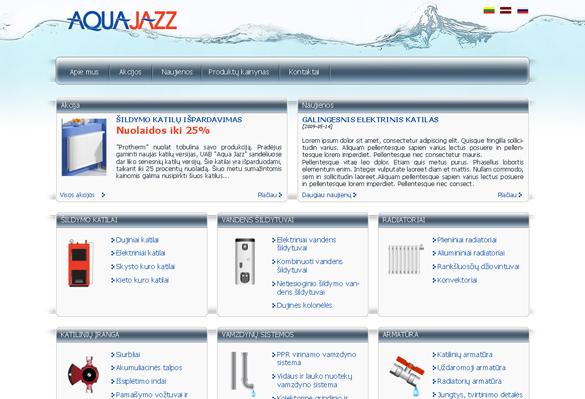 Interneto svetainių kūrimas - naujausios interneto svetainės / AquaJazz