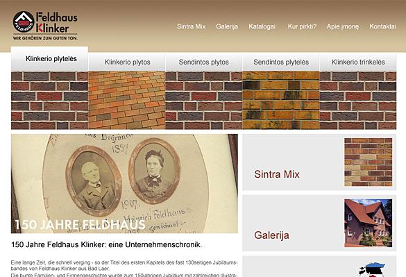 Interneto svetainių kūrimas - naujausios interneto svetainės / Feldhaus