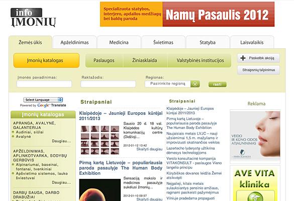 Interneto svetainių kūrimas - naujausios interneto svetainės / Įmonių info