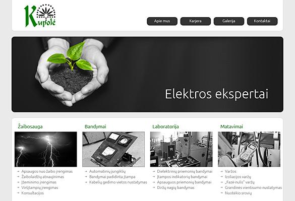 Interneto svetainių kūrimas - naujausios interneto svetainės / Kupolė