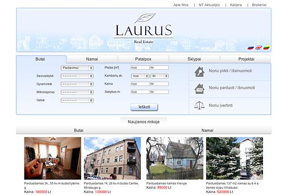 Interneto svetainių kūrimas - naujausios interneto svetainės / Laurus