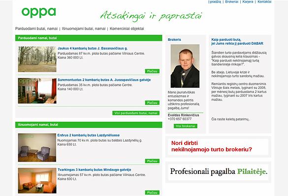 Interneto svetainių kūrimas - naujausios interneto svetainės / oppa