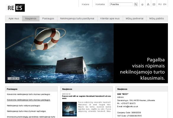 Interneto svetainių kūrimas - naujausios interneto svetainės / REES