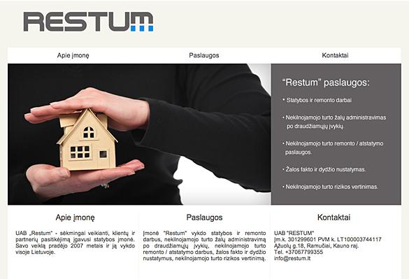 Interneto svetainių kūrimas - naujausios interneto svetainės / Restum