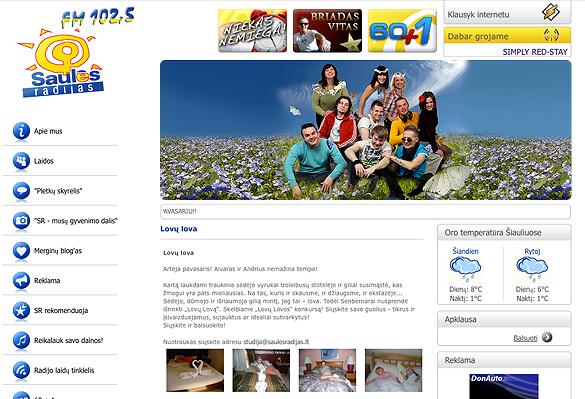 Interneto svetainių kūrimas - naujausios interneto svetainės / Saulės radijas