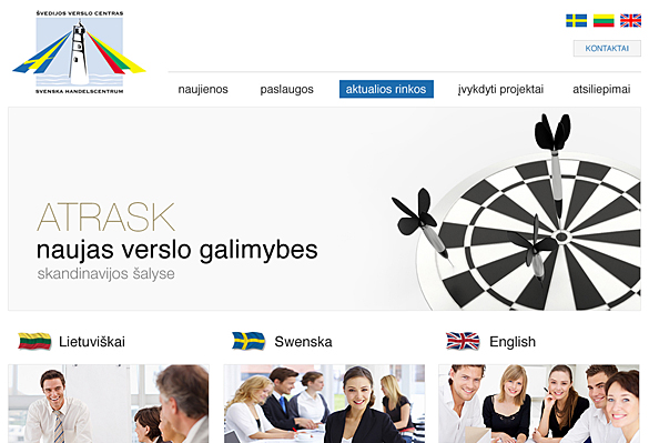 Interneto svetainių kūrimas - naujausios interneto svetainės / Švedijos verslo centras