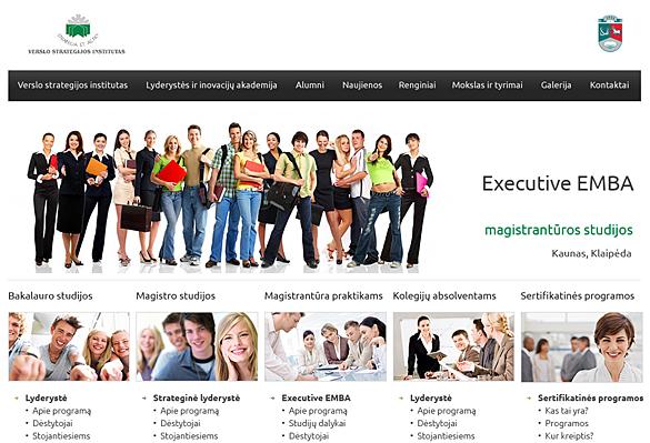 Interneto svetainių kūrimas - naujausios interneto svetainės / Verslo strategijos institutas