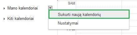 naujo kalendoriaus sukšūrimas